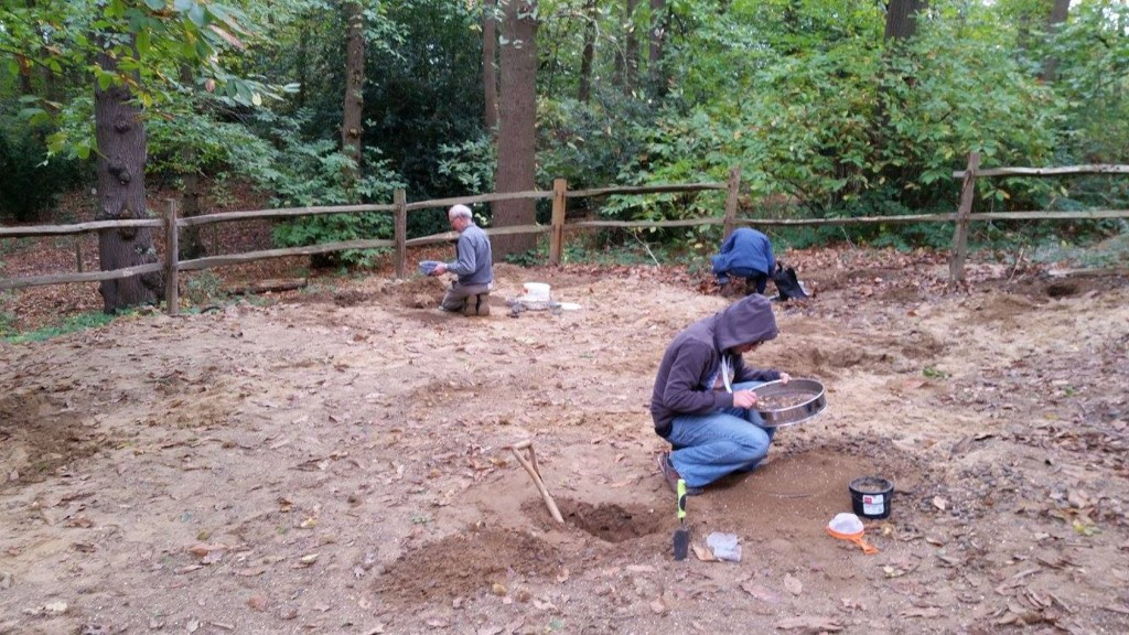 Collecting fossils from Abbey Wood