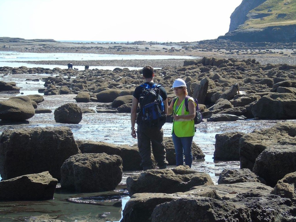 Fossil Hunting at Saltwick Bay