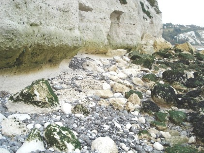West - undercutting of the chalk cliffs