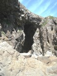 Cave at the back of the adjacent cove