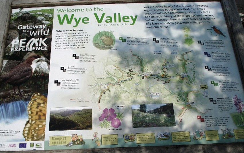 Information board in area in front of the Monsal Head Hotel - reduced size