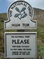 Mam Tor sign