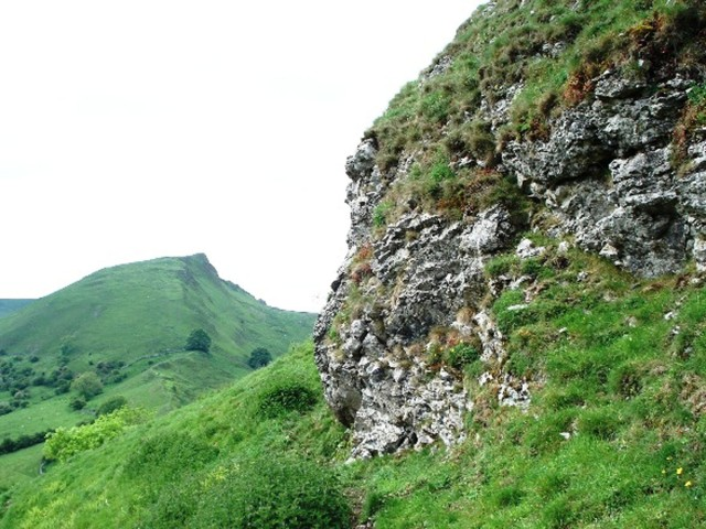 Rocky outcrop near the top of the hill