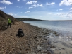 Collecting Fossils from Tidmoor Point, The Fleet, Dorset